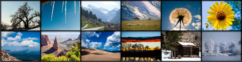 A sampling of all the images featured in the 2018 Colorado Calendar