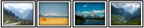 Clark Reeh Photography Notecard Collections - Mountain Set of four original unique photos
