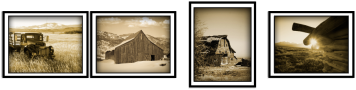 Clark Reeh Photography Notecard Collections - Rustic Set of four original unique photos